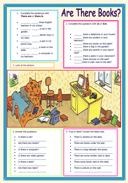 there is there are elementary worksheet