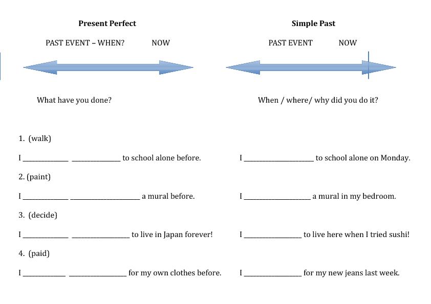 Present Perfect vs Simple Past Practice