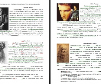 Biographies of Famous People (Past Simple)
