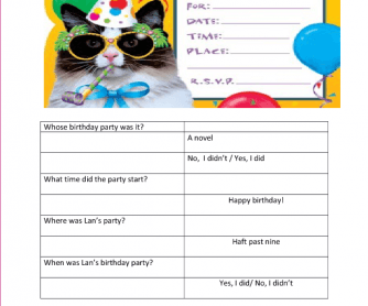 Birthday Questions to Role Play