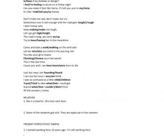 Song Worksheet: Born to Die