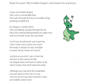 Reading Comprehension - My Invisible Dragon