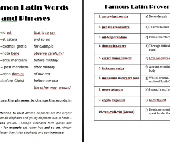 Latin Words and Phrases in English
