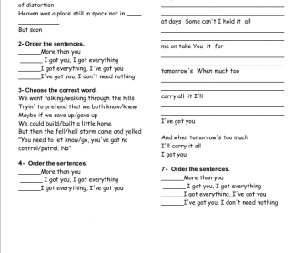Song Worksheet: I Got You by Jack Johnson