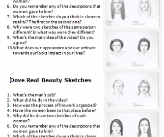 Movie Worksheet: Dove Real Beauty Sketches