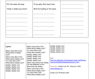 Song Worksheet:Take a Break