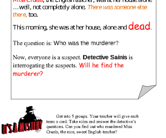 graphic about Quick Solve Mysteries Printable identified as Murder Top secret