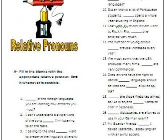 Revising Relative Pronouns Intermediate Worksheet