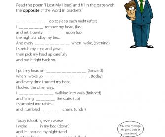 Reading Comprehension - I Lost My Head