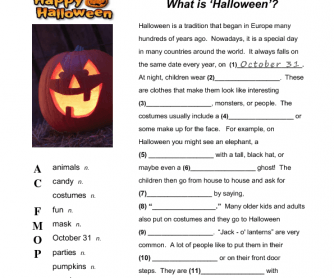 What is Halloween? 2- to 3-hour Сomplete Lesson
