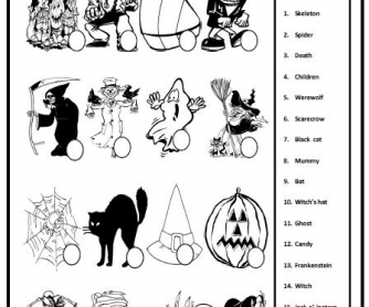 Halloween Matching Activity II