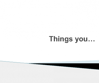 Things You...