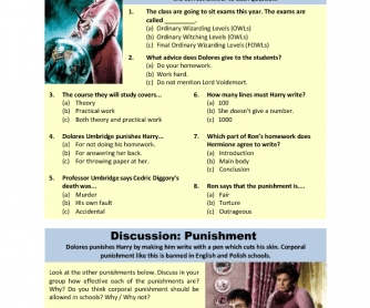 Movie Worksheet: Harry Potter and the Order of the Phoenix
