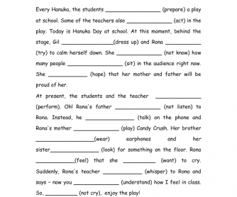 Printables Present Progressive Worksheets present simple vs progressive and stative verbs
