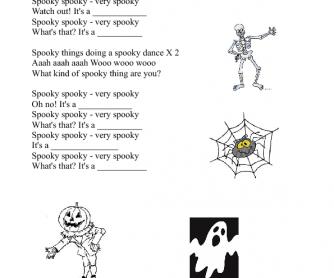 Song Worksheet: Halloween Vocabulary