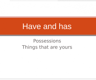 Have Got (for Possessions)