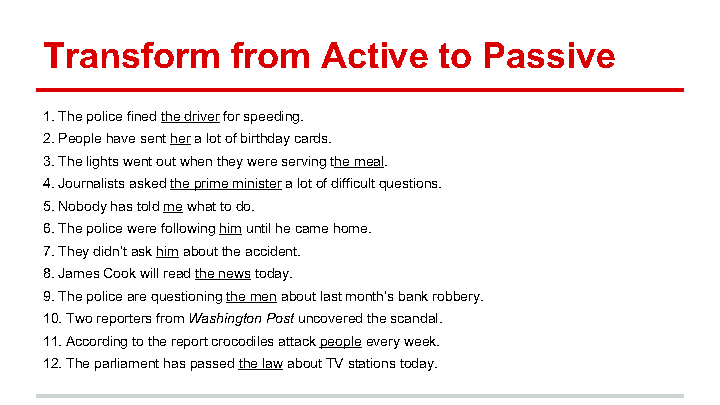 Passive Voice Exercises Song Worksheet