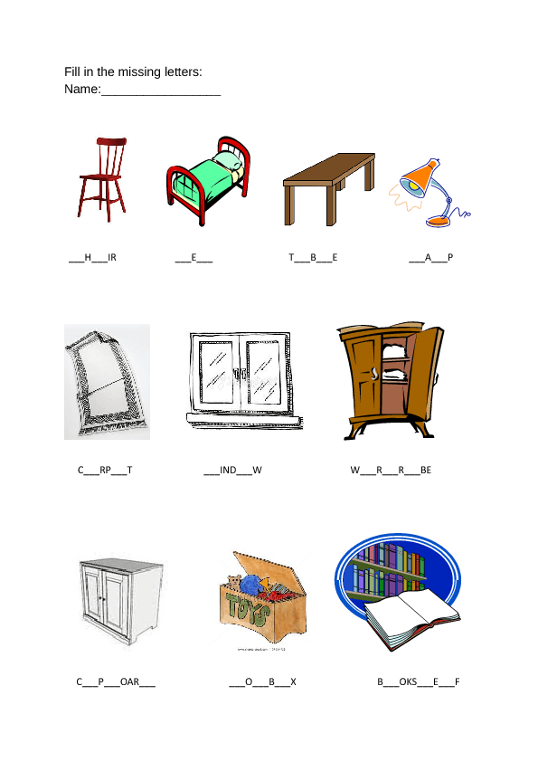 Furniture in My Room