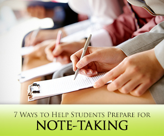 Note-Taking During Lectures: 7 Ways to Help Students Prepare