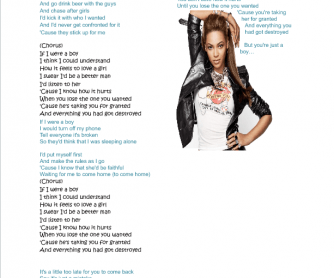 Song Worksheet: If I Were a Boy (Second Conditional) by Beyonce