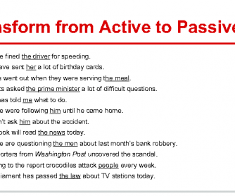 Passive Voice (Exercises)+ Song Worksheet