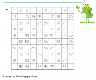 Missing Numbers - 100 Number Square