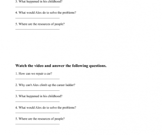 Movie Worksheet: Problems and Solutions