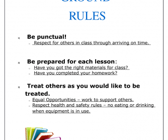 Ground Rules Poster