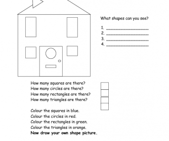 Shapes - Read, Colour and Answer