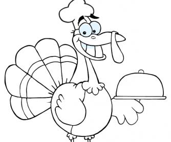 Colouring Worksheet - Thanksgiving (2)