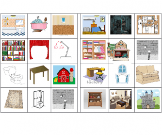 Furniture/Rooms of the House/ Kinds of Houses Bingo