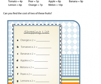 Maths Printable - Doubling the Cost