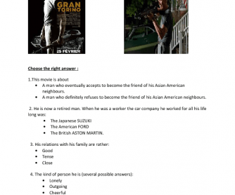 Movie Worksheet: Gran Torino