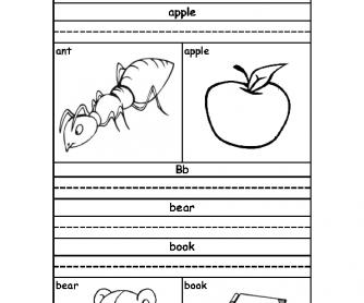 Alphabet Practice: A to M