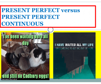 The Present Perfect and Continous Tenses