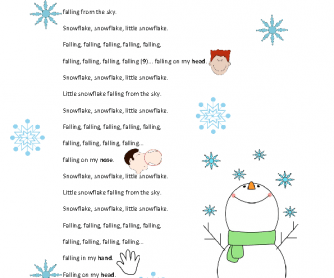 Song Worksheet: Little Snowflake