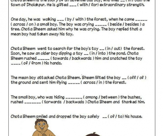 Chota Bheem Worksheet