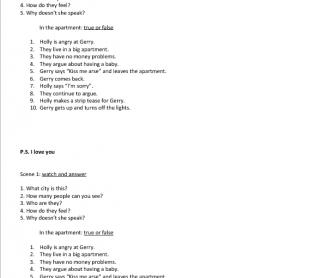 Movie Worksheet: P.S. I Love You (1)