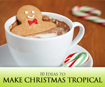 I'm Dreaming of a Green Christmas! 10 Ideas to Make Christmas Tropical