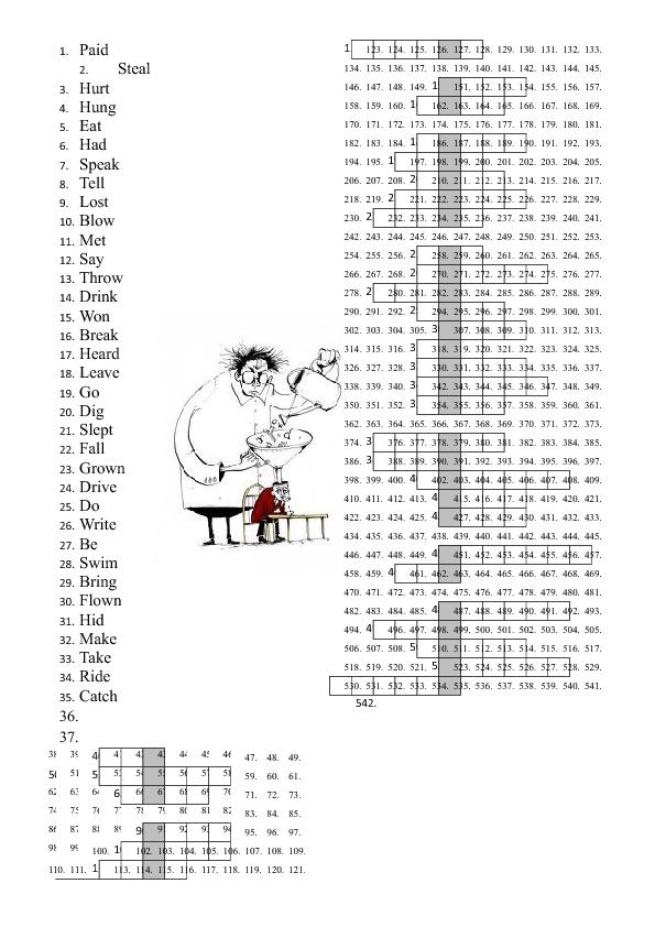 Past Participles Crossword