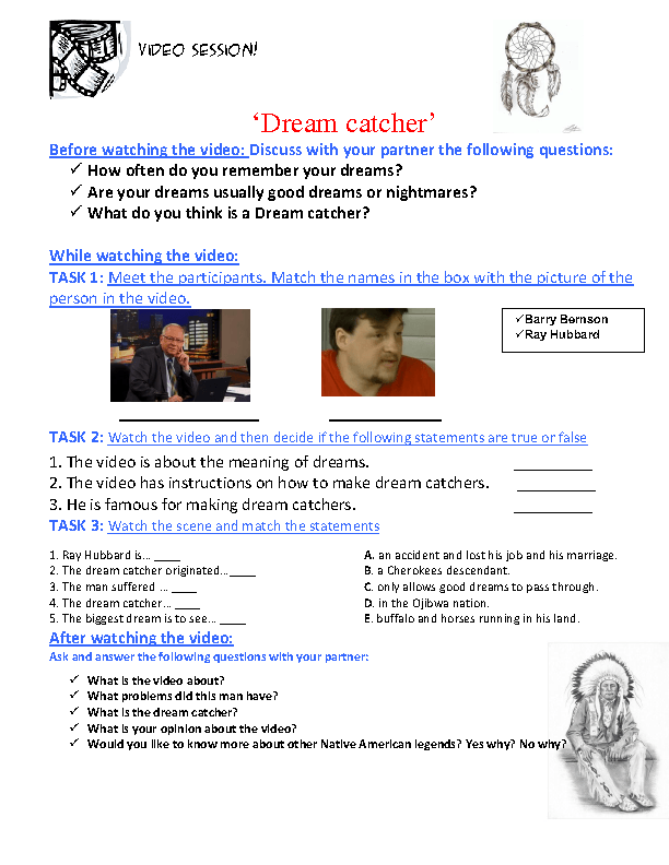 Dream Catcher Worksheet Worksheet Dreamcatcher 9