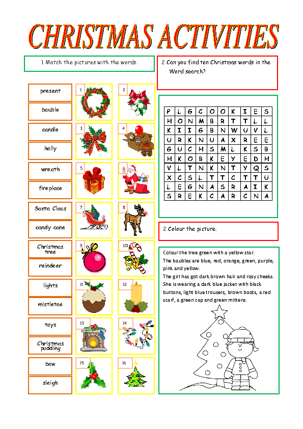 Christmas Words A Z.Christmas Activities