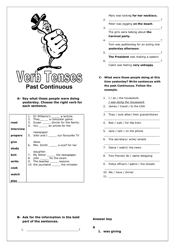 Worksheets Continuous Tense Worksheet continuous tense revision worksheet past worksheet