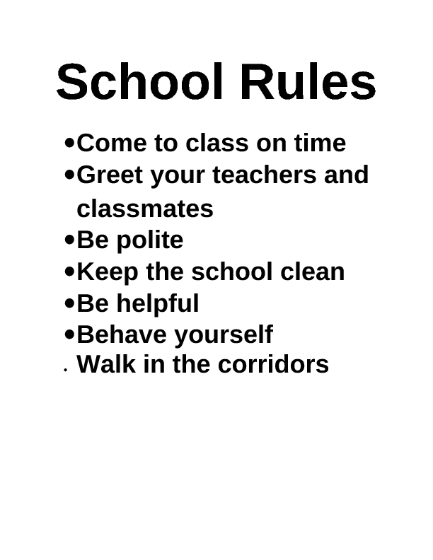 why we need rules in school