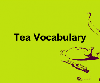 Tea Vocabulary