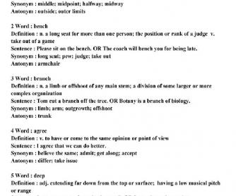 Vocabulary Lesson 1A