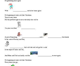Song Worksheet: It's Beginning to Look a Lot Like Christmas by Michael Bublé