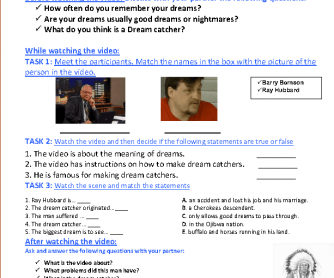 Movie Worksheet: Dreamcatcher