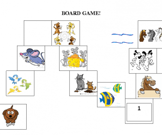 Plurals Board Game (with Pets)