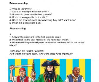 Movie Worksheet: Putrid Pirates - The Pirate Rulebook Worksheet